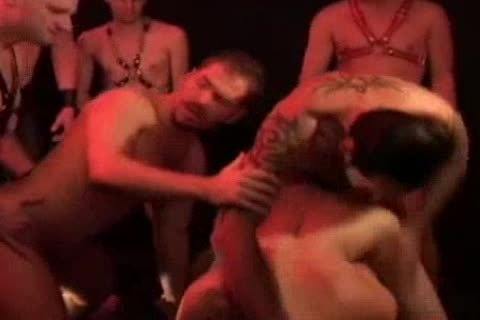 Dungeon gang group-sex