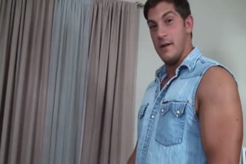 enormous Blasting Muscle Hunk Boud And Tickled - Ronnie J