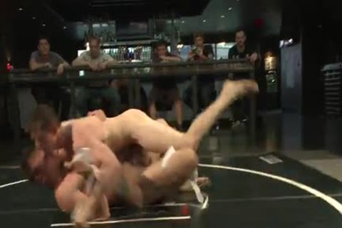 Two gay Wrestling And Getting naked In The Ring