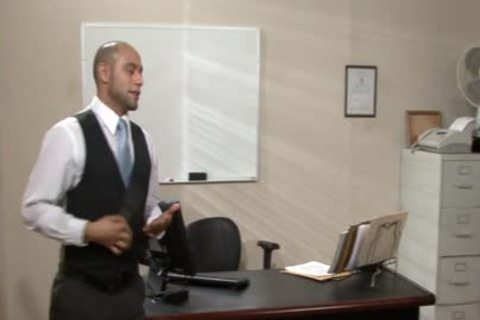 lustful homo receives Nailed And Cummed In The Office