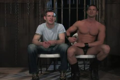 shackled In Wood homo arsehole Rougly slammed
