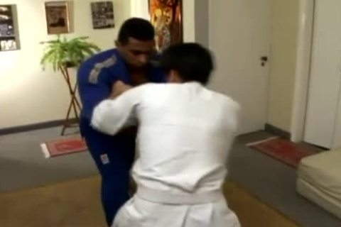 Karate corporalist Chokes His Student's Neck And Chicken
