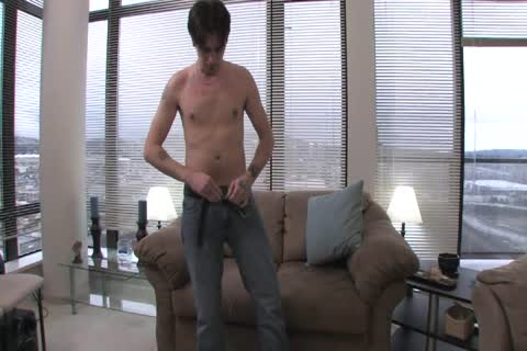 Tattoed Troy Massages His shlong erect Alone For pleasure