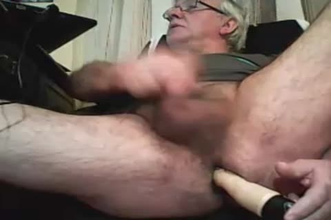 older man Play With A sex toy And spooge On webcam