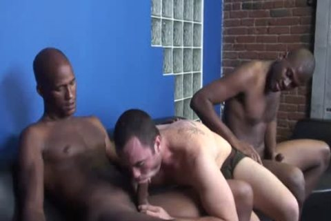 Hung darksome men Sharing A White lad