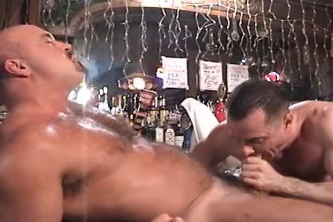 Muscle husband gangbang Each Other In The Keister In The Bar.