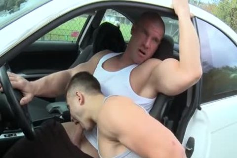 Muscle men Outdoor Car slam