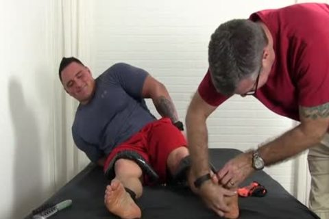 large Muscle man Named Karl gets The Tickle Treatment