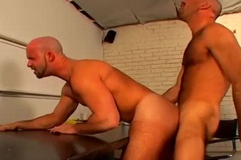 bald bj homo Hunks coarse And bare pooper pounding