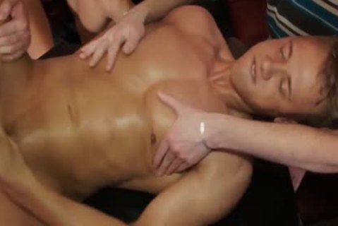 Euro non-professional Barebacked At Party while stroking