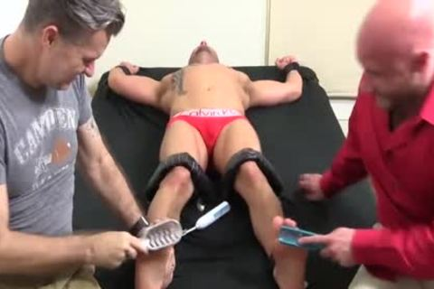 lustful Bald fellow With Tattoos acquires Hard Tickle Session