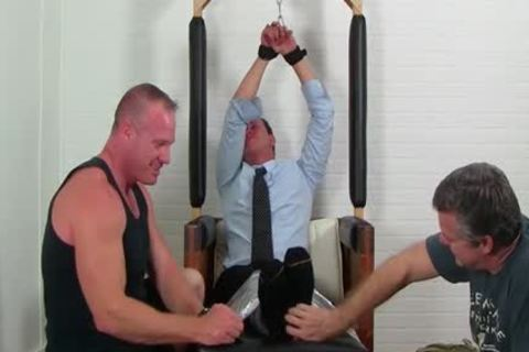 Business chap Gordon tied Up And Tickles Hard By friends