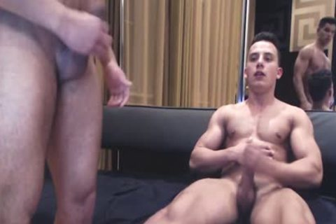 pumped up Ripped fellows Show Off Monster penises
