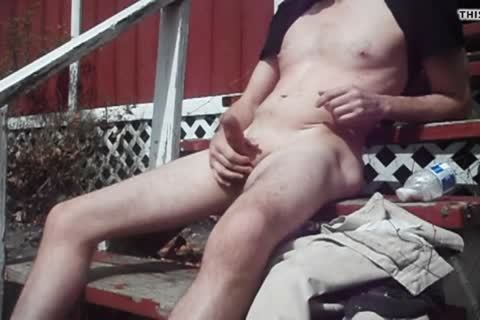 Outdoor pleasure On Sunny Day, sperm shot