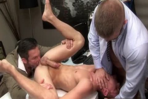 giant jock gay threesome With Facial