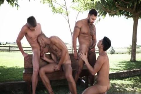 Tattoo homosexual DP And ejaculation
