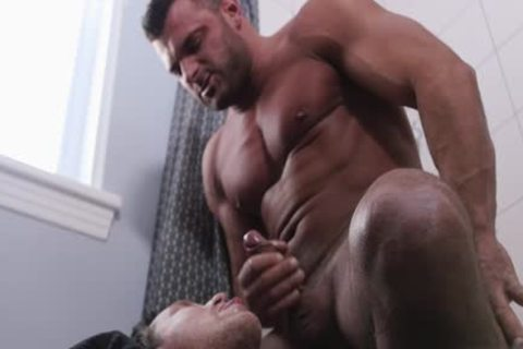 large schlong homosexual oral joy-sex With Facial