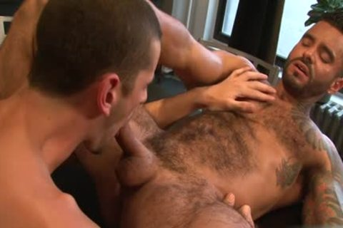 massive 10-Pounder gay ass sex And ball cream flow