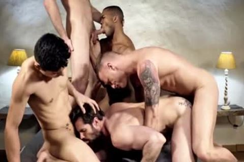 wild homosexual DP With cumshot