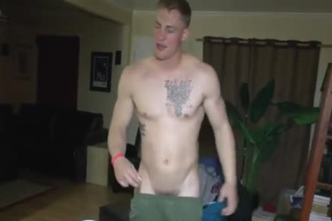 dirty Straight Marine At nude Party