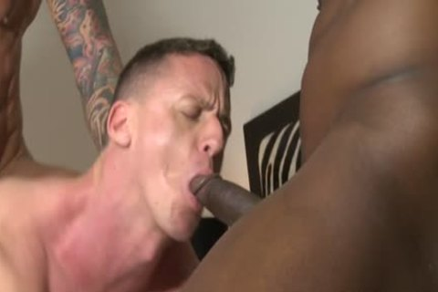Muscle homosexual three-some And ejaculate flow