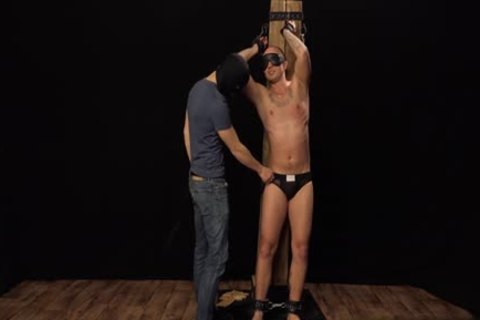 Tattoo homosexual thrashing With cumshot