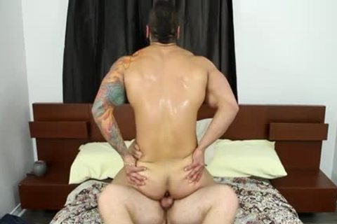 Muscle homo oral sex-job And cream flow