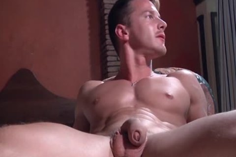 Muscle gay ass invasion With ejaculation