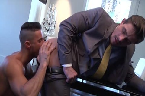 Muscle homosexual a bit of wazoo With cumshot