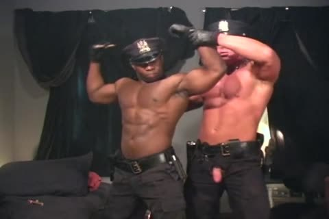 Two muscular Cops pound Each Other