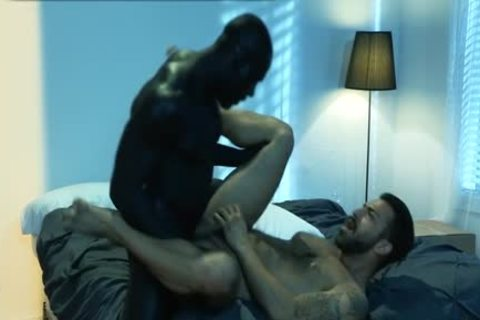 Muscle Bear Interracial And ejaculation