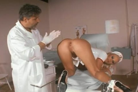 Smoking horny nurse pooper-pounded