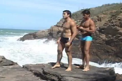 Two fine Greeks fuck On Tthellos stud Rocks