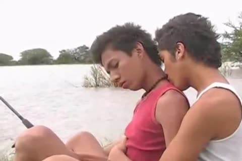 2 delicious Latin boys undresspedback outdoors