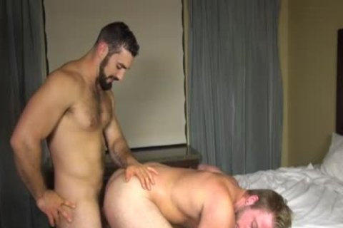 Muscle gay group-pokeed doggy style