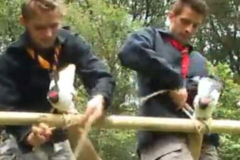 teen Scouts pound Outdoor