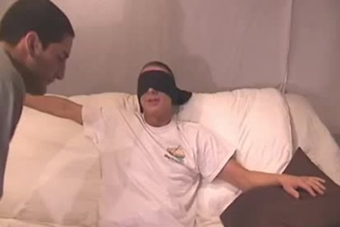 Straight man Blindfolded And Tricked - Factory video