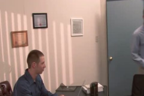 nice-looking homo gets anal nailed In The Office