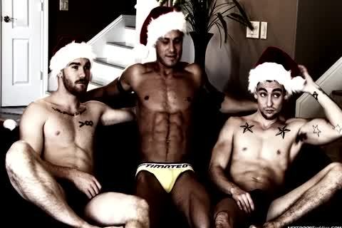 A homo Christmas orgy In This Great video