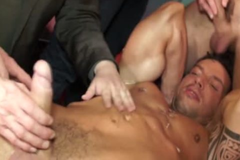 Euro Hunk Drenched In cum During fuckfest
