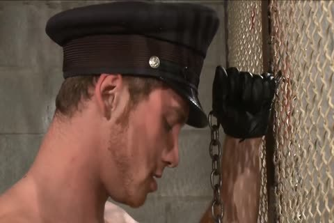 bdsm - Officer Dominates The Inmate.