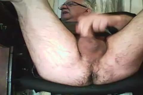 grandad stroke And Play With A dildo
