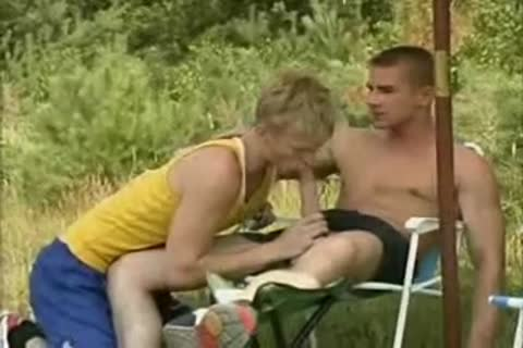 blond Runner gets banged By Two twinks.flv
