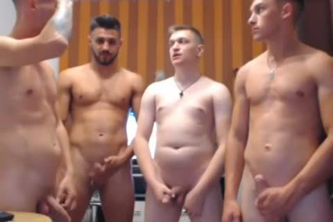 4 nasty Romanian males, Hard penises & nasty booties