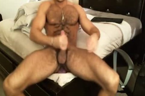 hirsute Sean Zevran Dildos On web camera And Cums Twice