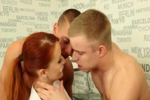 lusty bisexual boyz pounding With A Redhead
