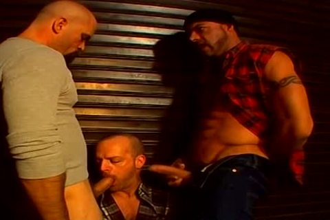 Perv gay Buffy Hunks get It Down For rough three-some