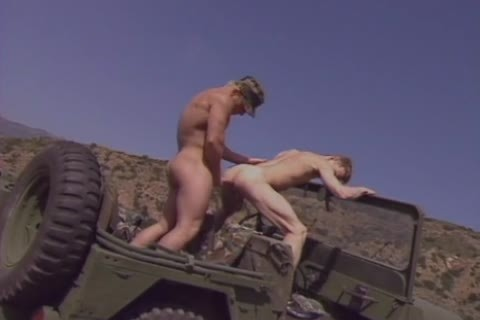 There hardcore Militar homosexual Sir Pull Over The Jeep To fetch out Of Each Others asses