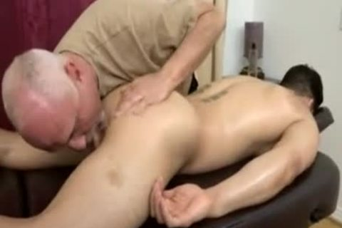 Topher Dimaggio Massage Turns Into An Dilf Oldie Grey chap Slurping His Salami