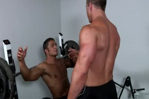 Muscle gay oral sex stimulation And cream flow
